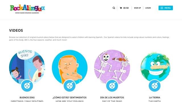 Links spanish lauriston primary school learning spanish videos for kids and children rockalingua m4hsunfo